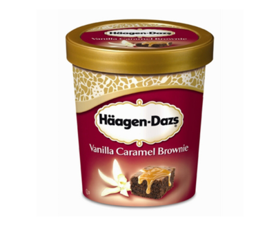 """HÄAGEN DAZS"" Vanille Caramel Brownies"